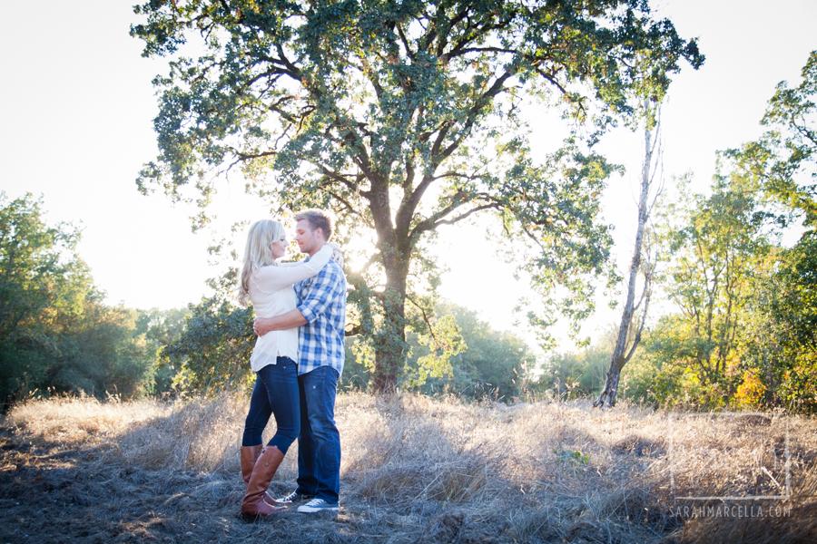 Engagement photography oak tree